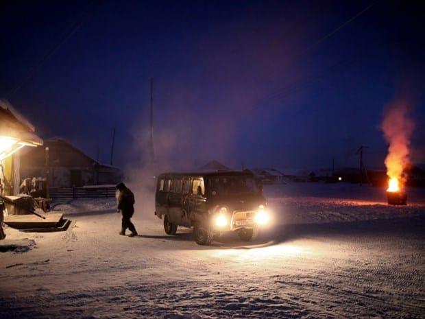 Kar resimleri Yakutistan
